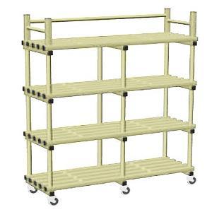 vynarac-double-mobile-storage-unit-with-castors-beige(592)