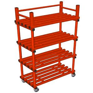 vynarac-single-mobile-storage-unit-with-castors-red(587)