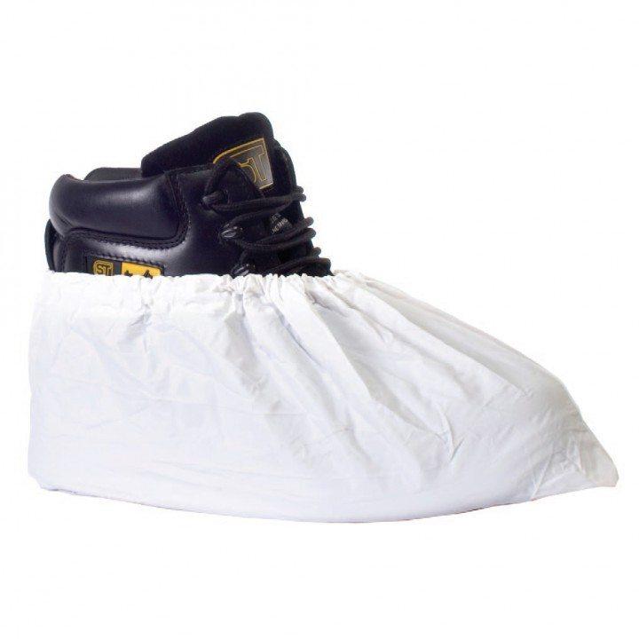 white overshoe boot